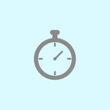 Stop watch icon. Timer icon grey stock illustration