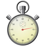Stop watch, realistic illustration. Royalty Free Stock Photos