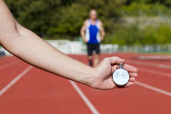 Stop watch runner Stock Photo