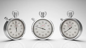 Stop Watch Time Lapse, Three Different Angles, stock footage Stock Photography