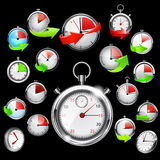 Stop watch, vector illustration Stock Images