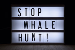 Stop Whale hunt! Stock Photo