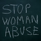 Stop woman abuse Stock Photography