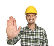 Stop Worker Royalty Free Stock Image