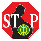 Stop worldwide obesity Royalty Free Stock Images