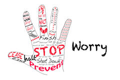 Stop Worry Royalty Free Stock Photo