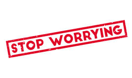 Stop Worrying rubber stamp Royalty Free Stock Image