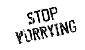 Stop Worrying rubber stamp Stock Image