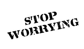 Stop Worrying rubber stamp Stock Photography