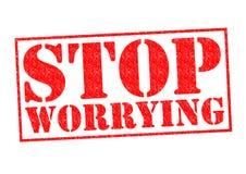 STOP WORRYING Stock Photos