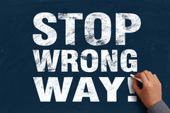 Stop Wrong Way Royalty Free Stock Images