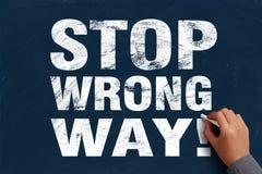 Stop Wrong Way Royalty Free Stock Images