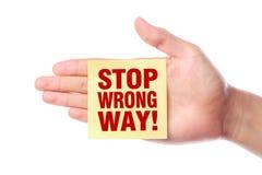 Stop Wrong Way Royalty Free Stock Photos