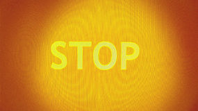 Stop in yellow. The word stop on a yellow and orange background Royalty Free Stock Image