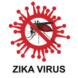 Stop zika virus sign Royalty Free Stock Images