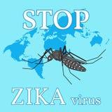 Stop zika virus. Stock Photography
