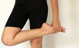 Stopa ból i nogi kobieta Zdjęcie Royalty Free
