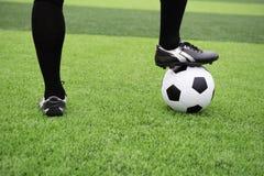 Stopa futbolistów stojaki obraz royalty free