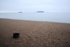 stopa jest piasek Fotografia Stock