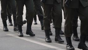Stopa na Marzec wojskowy zdjęcie wideo