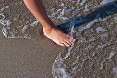 Stopa na piasku. Zdjęcia Stock