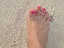 Stopa w piasku Obrazy Royalty Free