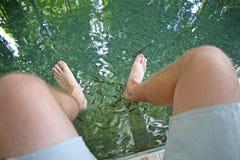 Stopa w rybim nożnym zdroju Obrazy Royalty Free