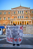 #stopausterity demostration. #stopausterity demonstration at Syntagma Square (Greek Parliament), Athens - Greece Royalty Free Stock Photos