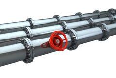 stopcock трубопровода Стоковое Фото
