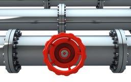 stopcock трубопровода Стоковое Изображение