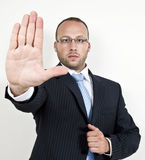 Stoping businessman Royalty Free Stock Image