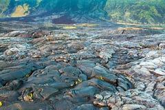 Stopiony ochłodzony lawa krajobraz zdjęcie royalty free