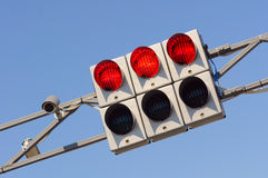 Stoplight. The image of traffic lights while red light on Royalty Free Stock Photos