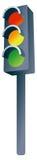 Stoplight. Cartoon illustration of a outdoor traffic stoplight Stock Photography