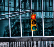 Stoplight!. Stoplight in downtown Raleigh, NC royalty free stock photography
