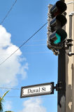 Stoplight on Duval Street. Stoplight on the corner of Duval Street stock photos