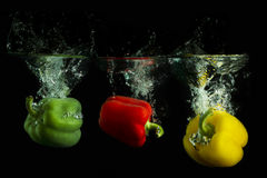 Stoplight Peppers Royalty Free Stock Photo