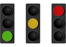 Stoplights del LED Fotografie Stock Libere da Diritti