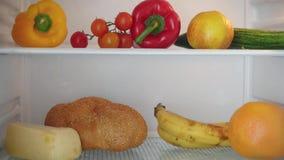 Stopmotion από την αρχή του γεμισμένου ψυγείου απόθεμα βίντεο