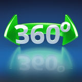 360 stopni. Background illustrating icon 360 degree panorama Royalty Free Stock Images