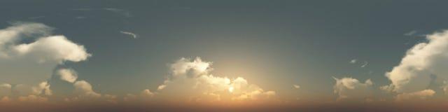 360 stopni bezszwowa panorama chmury Zdjęcia Royalty Free