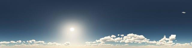 360 stopni bezszwowa panorama chmury Zdjęcie Stock