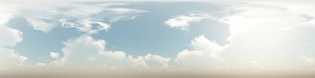 360 stopni bezszwowa panorama chmury Obrazy Stock