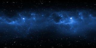 360 stopni mgławicy astronautyczna panorama, equirectangular projekcja, środowisko mapa HDRI bańczasta panorama Astronautyczny tł royalty ilustracja