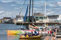 Stopover Haag, Nederländerna för Volvo havlopp Arkivfoto