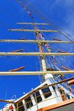 Stopover in Sete – Maritime Traditions Festival. `Dar Mlodziezy` - the Polish sail training ship during Stopover in Sete stock photos
