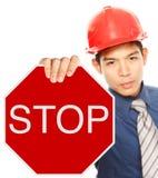Stopp! Royaltyfri Foto