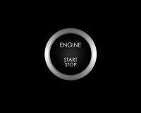 stopp för knappmotorstart Fotografering för Bildbyråer