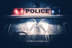 Stopp för poliskryssaretrafik royaltyfri foto