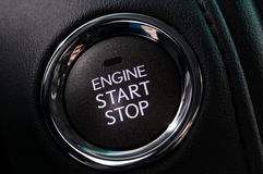 stopp för start för knappbilmotor Royaltyfri Bild